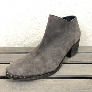 Freda Salvador Ankle Boots Gray Suede Booties Shoe